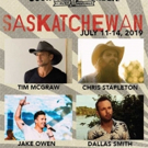 Chris Stapleton, Tim McGraw, Jake Owen & Dallas Smith to Headline Country Thunder Saskatchewan