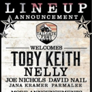 Toby Keith, Nelly, Joe Nichols, David Nail, Jana Kramer, Parmalee Added to LA's TAILGATE FEST LINEUP