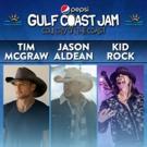 Tim McGraw, Jason Aldean and Kid Rock to Headline Pepsi Gulf Coast Jam