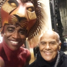 Photo Flash: Harry Belafonte Visits Broadway's THE LION KING