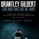 Brantley Gilbert Teams Up With The Ones That Like Me Orchestra for Special Concert in Nashville