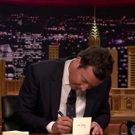 VIDEO: Jimmy Fallon Pens Thank You Notes to Winter Olympics and Tarik Trotter Performs an Olympic Rap Up