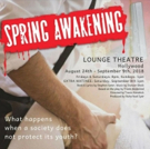 BWW Feature: Me + You Productions Presents SPRING AWAKENING at The Lounge Theater: Aug 24 - Sept 9th