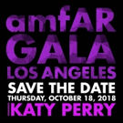 Katy Perry To Be Honored at the 2018 amfAR Gala