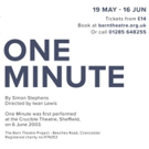 The Barn Theatre Presents ONE MINUTE By Simon Stephens
