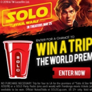 SOLO Delivers EPIC Sweepstakes for World Premiere of SOLO: A STAR WARS STORY