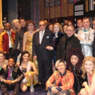 Photo Flash: Clive Davis Poses Backstage with the Cast of THE PROM!