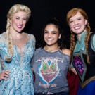 Photo Flash: Olympian Laurie Hernandez Visits FROZEN