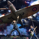 Iron Maiden Fly Replica Spitfire As their Sold Out Legacy of the Beast Tour Lands in Photo
