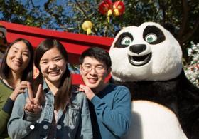 Lunar New Year ft. KUNG FU PANDA's Po and Tigress Arrives at Universal Studios Hollywood