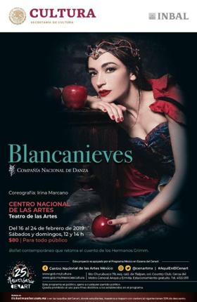 Por tercera ocasión, regresará Blancanieves de la CND al Cenart