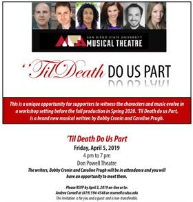 'TIL DEATH DO US PART to be Presented in a Developmental Workshop at San Diego State University