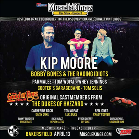 Kip Moore, Bobby Bones and More To Appear At at MuscleKingz Car Show & Concert