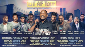 'LIT AF Tour' Hosted By Martin Lawrence Comes To Mandalay Bay Events Center