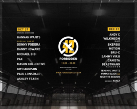Forbidden 42 Announce Andy C, Hannah Wants, Wilkinson, Sonny Fodera, Skepsis, Michael Bibi, and More