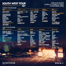 South West Four Festival Adds Example, Holy Goof, Sigala, Elderbrook to Lineup