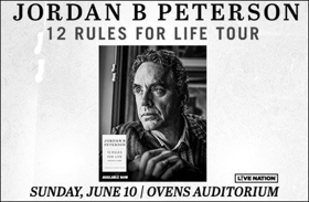 Dr. Jordan Peterson's 12 Rules For Life Tour Comes to Ovens Auditorium