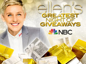 NBC to Air Special Holiday Event Series ELLEN'S GREATEST NIGHT OF GIVEAWAYS