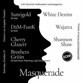KCRW Announces Line-Up for 2018 Masquerade Featuring Santigold (DJ Set), White Denim, Wajatta, Dam-FunK, and More