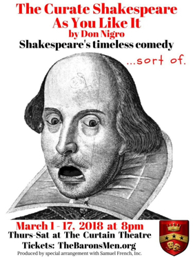 BWW Review: THE CURATE SHAKESPEARE AS YOU LIKE IT - A Silly Take On The Bard