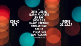 Cosmo Festival Announce NYE Line Up in Rome w/ Chris Liebing & More