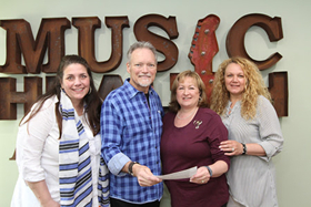 """Grammy Winning Artist, John Berry Presents Check From """"We All Come Together' Benefit to Music Health Alliance"""