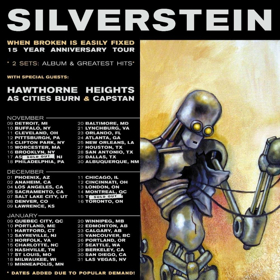 Silverstein Announce Second Leg of 'When Broken Is Easily Fixed' Anniversary Tour Dates