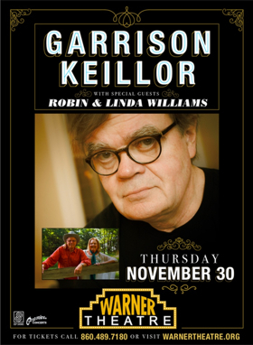 Garrison Keillor Set to Perform at the Warner Theatre on November 30