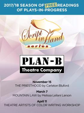 Plan-B Theatre Slates 2017-18 Script-in-Hand Series