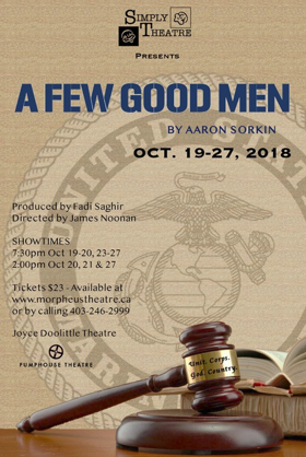 A FEW GOOD MEN Comes to Calgary This October