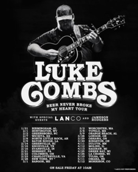 Luke Combs' 'Beer Never Broke My Heart Tour' Sells Out 23 of 28 Venues In First Weekend