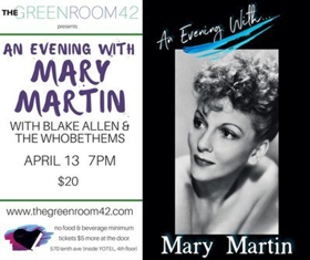 American Actress Mary Martin Comes Back to Life in One Night Only Times Square Concert
