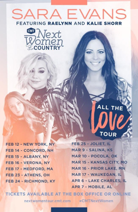 Sara Evans Teams with CMT for 4th Annual Next Women of Country Tour