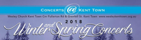 Concerts@Kent Town Present the Second Concert in Their 2018 Season