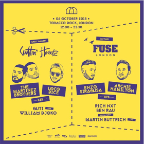 LWE Announce FUSE Takeover with Enzo Siragusa B2B Archie Hamilton for Cuttin Headz Event at Tobacco Dock