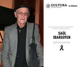 El INBAL lamenta el fallecimiento del escritor Saúl Ibargoyen