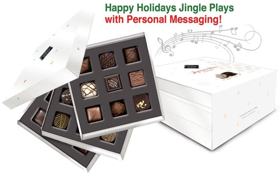 ChocoVoice by MICHEL CLUIZEL is an Inspired Gift of Fine Chocolates with a Jingle or Recorded Message