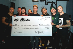 Dolores O'Riordan's Children Presented with $250,000 Check by Bad Wolves