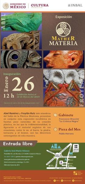 La Galería José María Velasco albergará la exposición escultórica Mather Materia