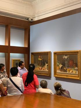 Visitantes realizan en el Museo Nacional de Arte bodegón inspirado en la obra de Agustín Arrieta