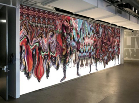 Nick Cave Collaborates with Bob Faust on Soundsuits Mural Installation At Live Arts