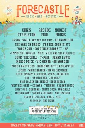 Chris Stapleton, Arcade Fire Among Forecastle Festival Initial 2018 Lineup