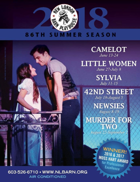 New London Barn Announces 2018 Summer Season; CAMELOT, NEWSIES, and More