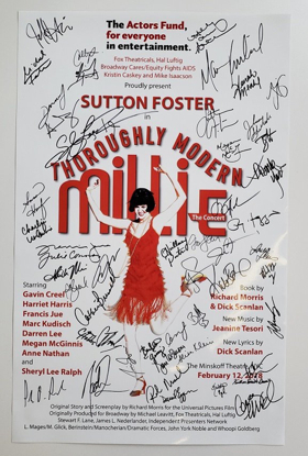 Bid to Win a Signed Poster from the THOROUGHLY MODERN MILLIE Anniversary Concert