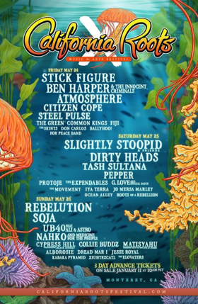 California Roots Music & Arts Festival Announces Final Lineup of Artists