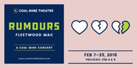 Coal Mine Theatre Presents The World Premiere of RUMOURS BY FLEETWOD MAC