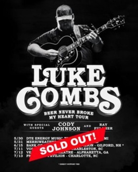 Luke Combs Sells Out Summer Tour Dates