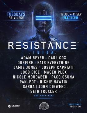 RESISTANCE Ibza Festival Announces 2018 Headliners