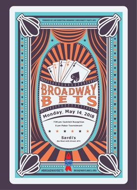 Broadway Stars Will Play Poker at BROADWAY BETS for Broadway Cares/Equity Fights AIDS