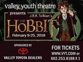 Valley Youth Theatre to Present THE HOBBIT